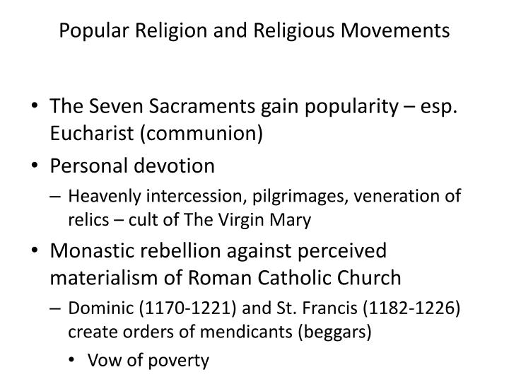 Popular Religion and Religious Movements