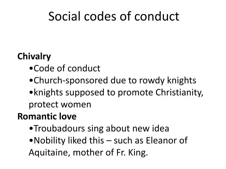 Social codes of conduct