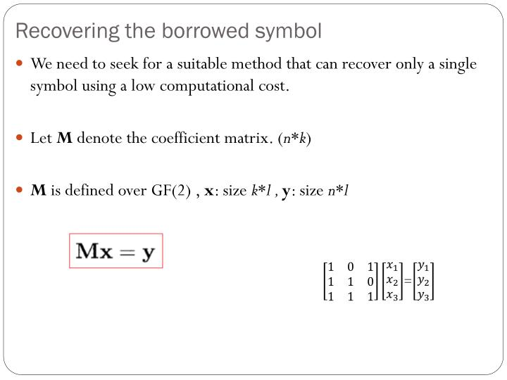 Recovering the borrowed symbol