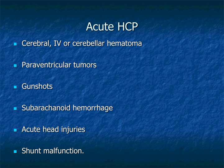 Acute HCP