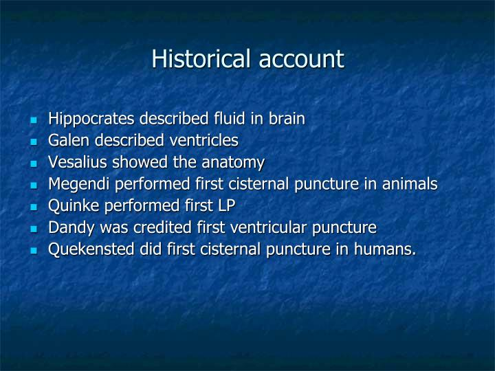 Historical account
