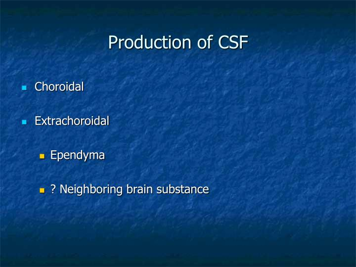 Production of CSF