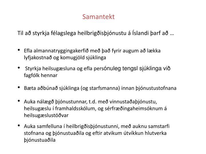 Samantekt