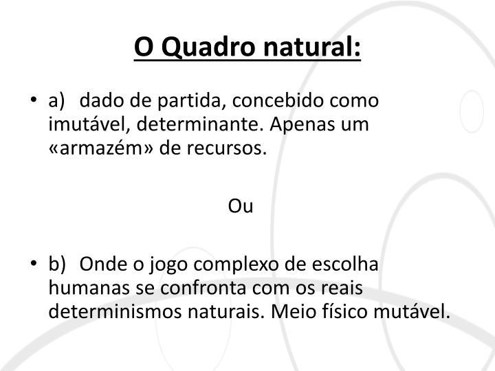 O Quadro natural: