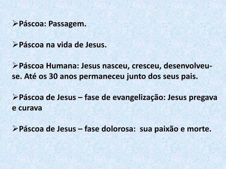 Páscoa: Passagem.