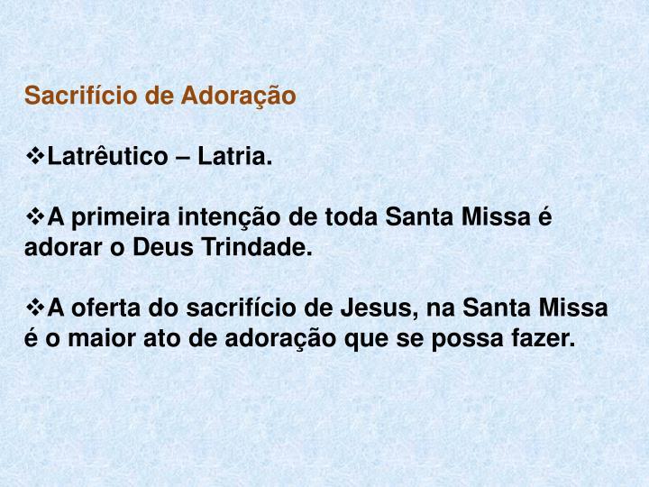 Sacrifício de Adoração