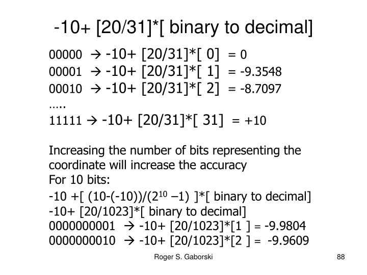 -10+ [20/31]*[ binary to decimal]