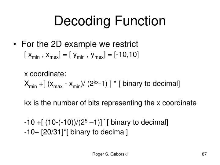 Decoding Function