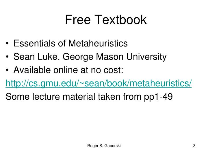 Free Textbook