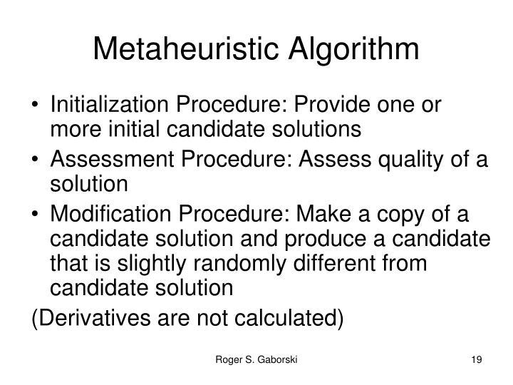 Metaheuristic Algorithm