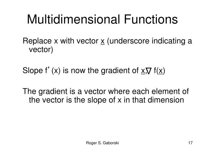 Multidimensional Functions