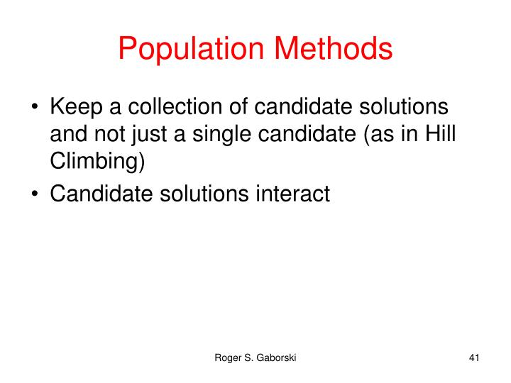 Population Methods