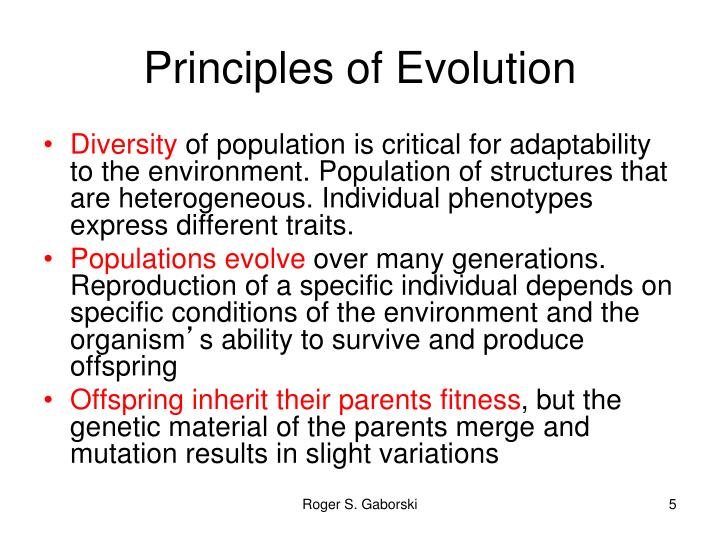 Principles of Evolution