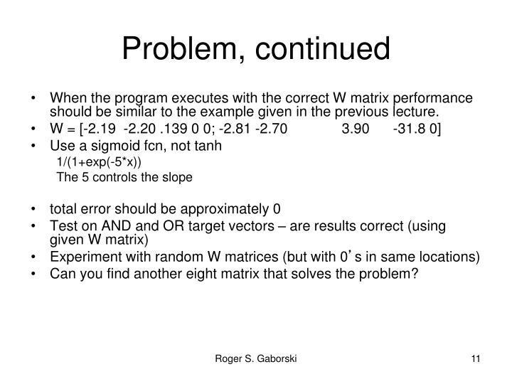 Problem,