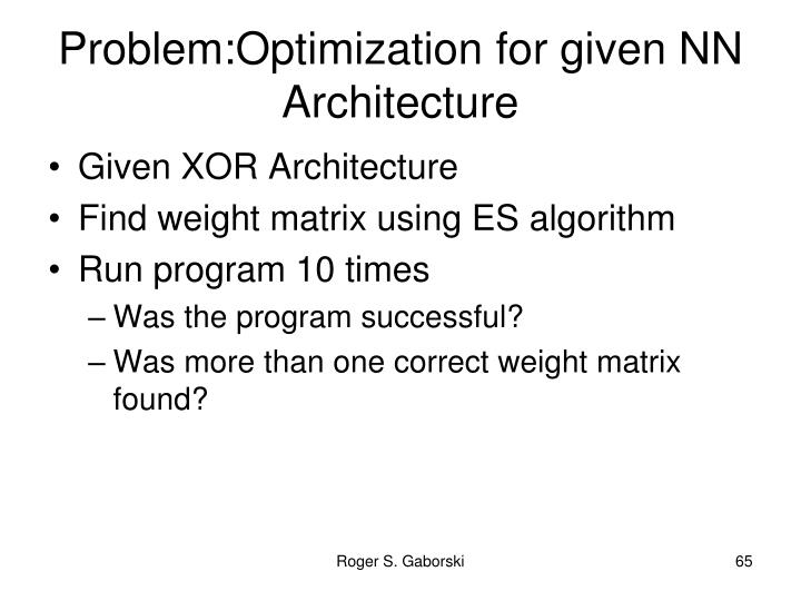 Problem:Optimization