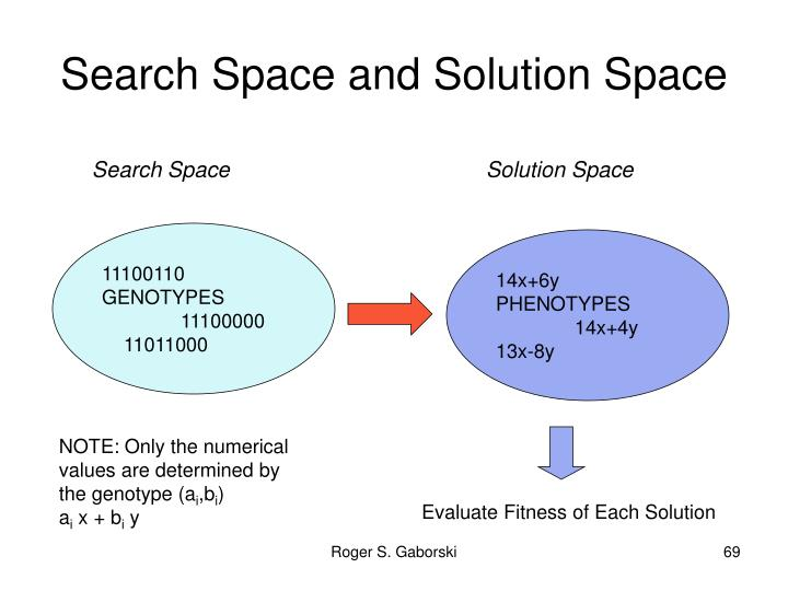 Search Space and Solution Space