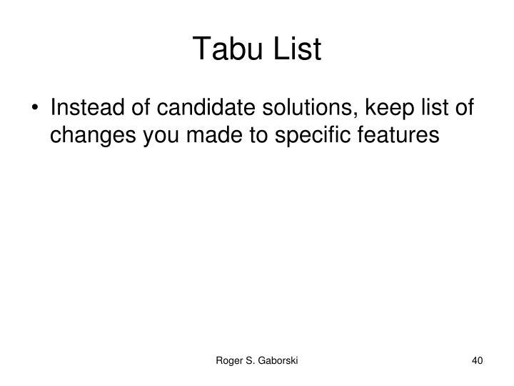 Tabu List