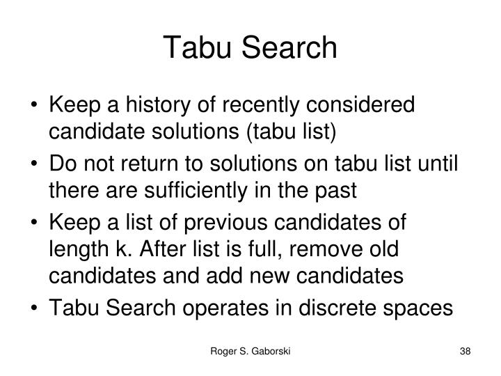 Tabu Search