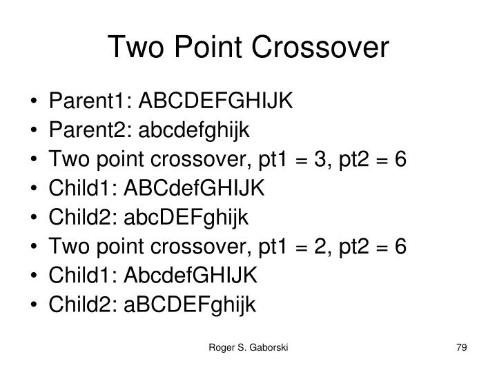 Two Point Crossover
