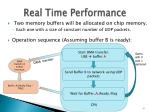 real time performance
