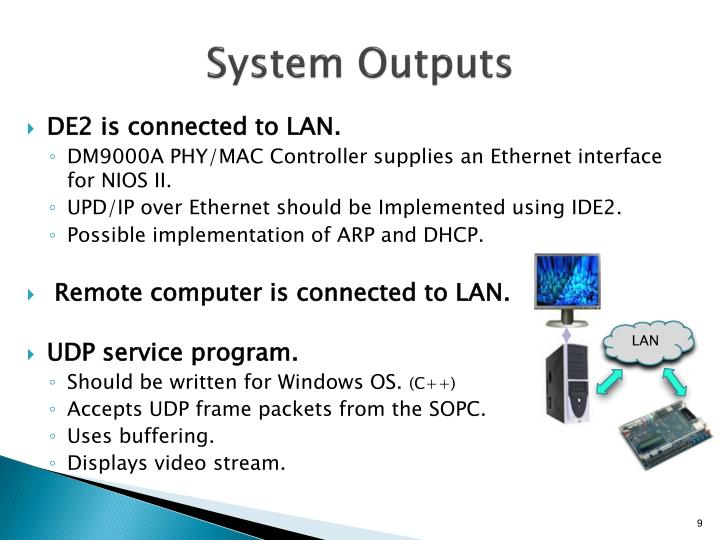 System Outputs