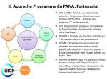 ii approche programme du pana partenariat