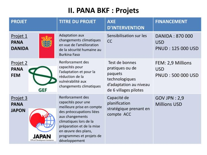II. PANA BKF