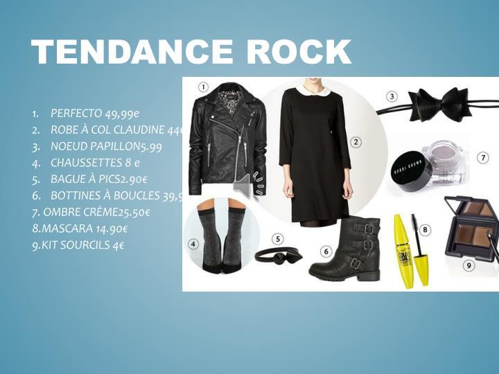 TENDANCE ROCK