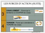 les forces d action suite