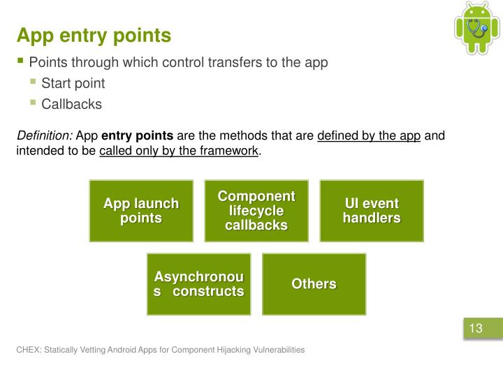 App entry points