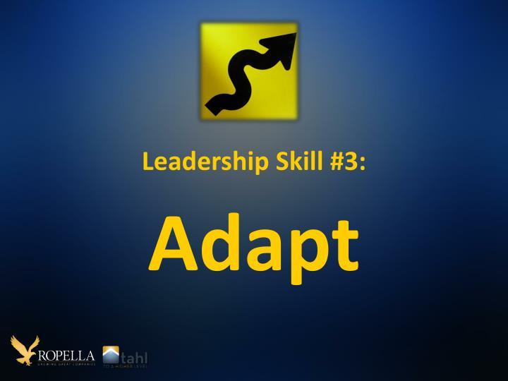 Leadership Skill #3: