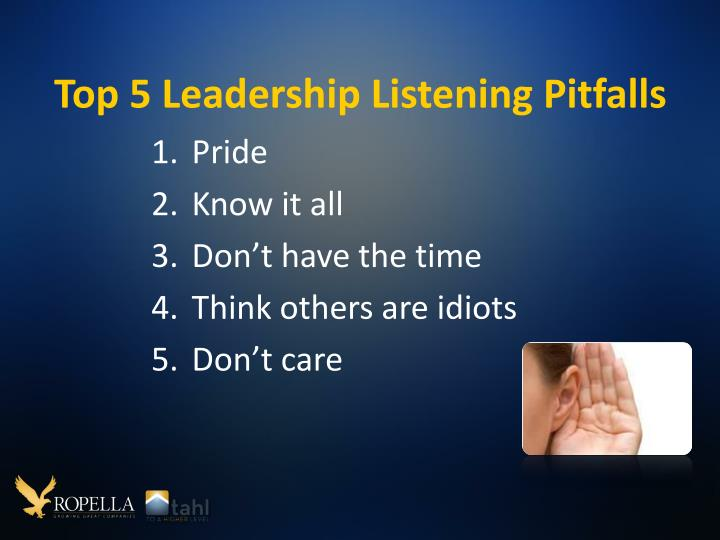 Top 5 Leadership Listening Pitfalls