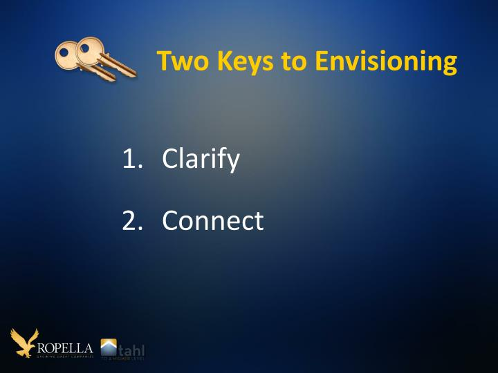 Two Keys to Envisioning