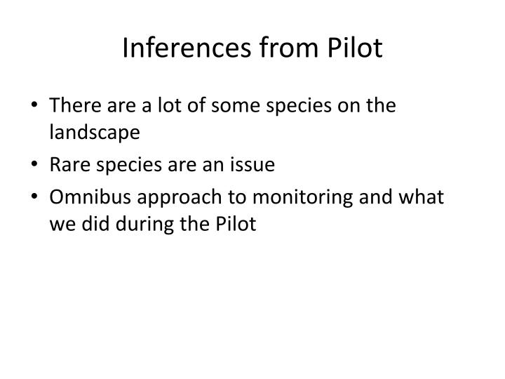 Inferences from Pilot