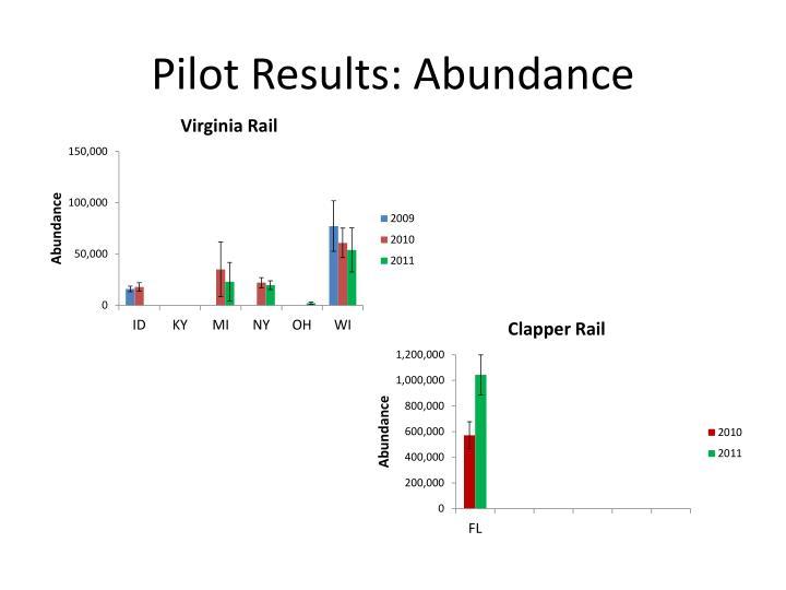 Pilot Results: Abundance
