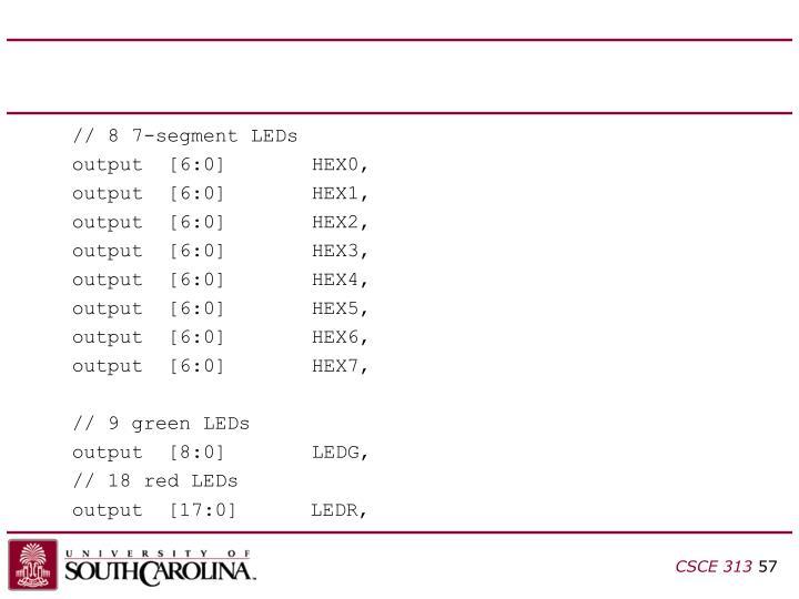 // 8 7-segment LEDs