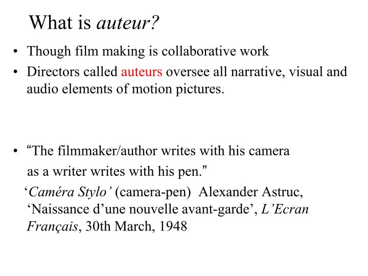 What is auteur2