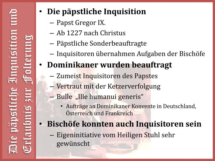 Die päpstliche Inquisition
