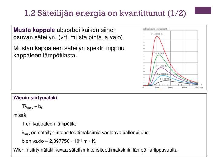 1.2 Säteilijän energia on kvantittunut (1/2)