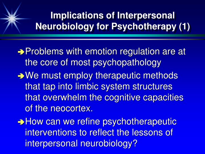 Implications of Interpersonal