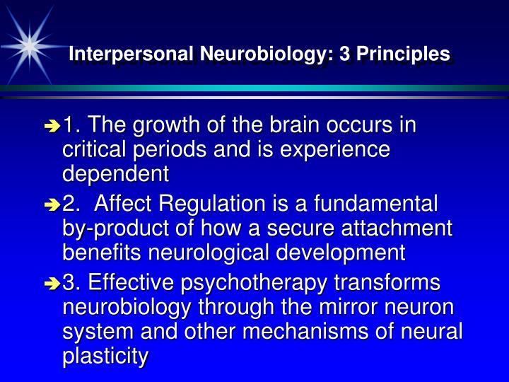 Interpersonal Neurobiology: 3 Principles