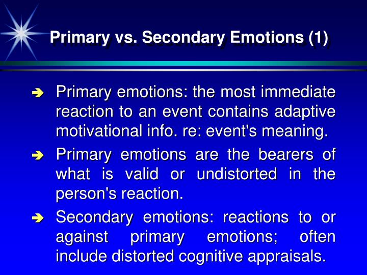 Primary vs. Secondary Emotions (1)
