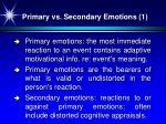 primary vs secondary emotions 1
