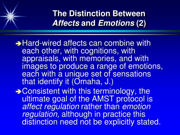 The Distinction Between