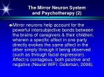 the mirror neuron system and psychotherapy 2