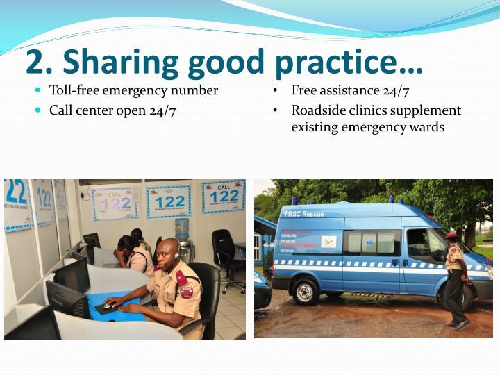 2. Sharing good