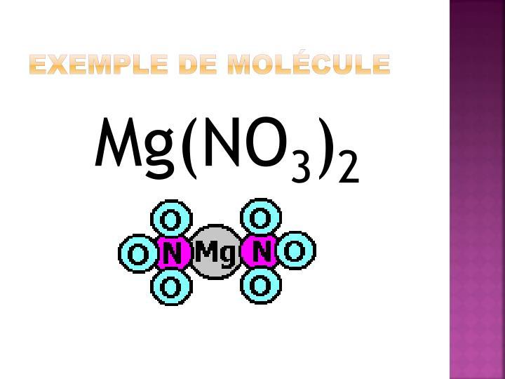 Exemple de molécule