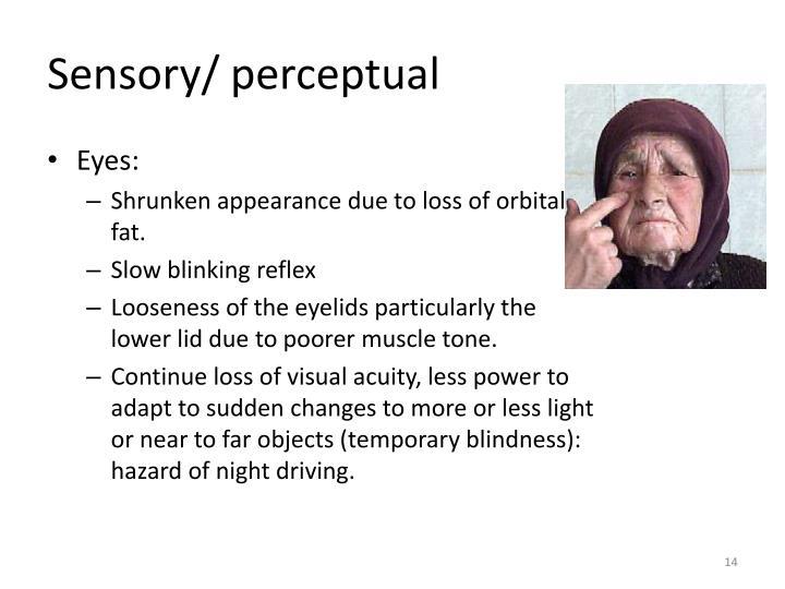 Sensory/ perceptual