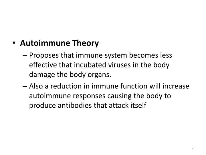Autoimmune Theory