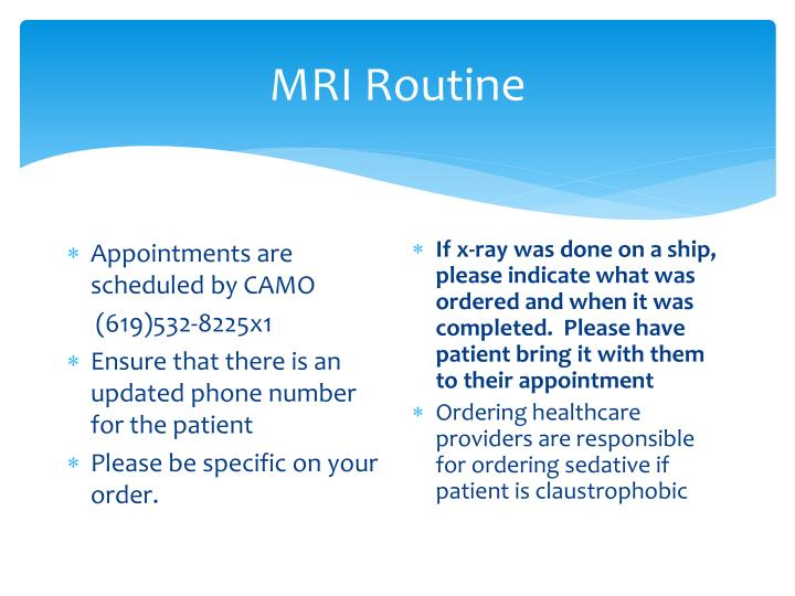 MRI Routine
